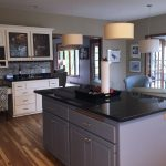 residential kitchen island painted cabinets